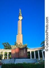 Monument to Soviet soldiers in Vienna. Austria