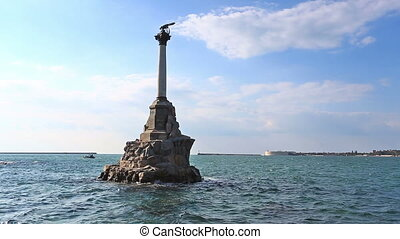 Monument to the flooded ships in Sevastopol,  Crimea