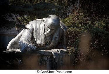 Monument to Vladimir Lenin in Priozersk, Russia