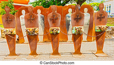"Monument ""Tutti Potenziali Bersagli"" on Piazzale Ostiense in Rom"