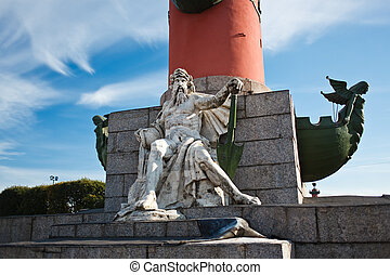 Monument under Rostral column - Rostral column on...