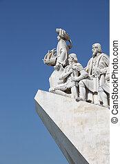 monument upptäckterna, in, lissabon, portugal