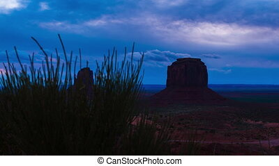 Monument Valley Cloudy Sunrise Hyperlapse Trucking