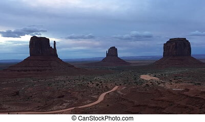 Monument Valley Cloudy Sunrise Time-lapse