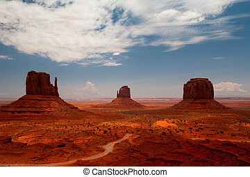 Monument Valley in Utah in USA