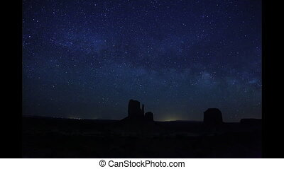 Monument Valley Milky Way - Time lapse footage of the Milky ...