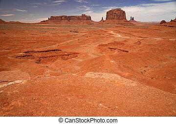 Monument Valley National Park, desert in Utah, USA