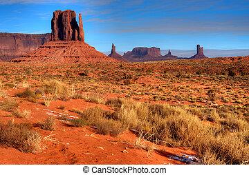monument valley, navajo, arizona, nación