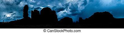 Monument Valley Panorama Skyline