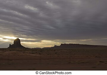 Monument Valley Rocks before dawn