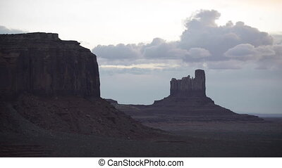 Monument Valley slow pan right rolling shot - Monument Vally...