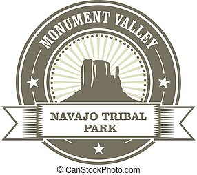 Monument Valley stamp - Navajo