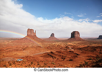 Monument Valley.  The magnificent rainbow