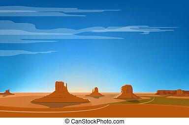 Monument valley vector illustration