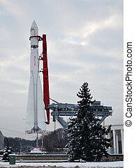 monument, vostok-1, raket, utrymme
