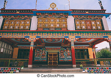 monumental ancient building in Leh city, Indian Himalayas
