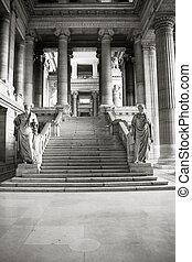 Brussels - Monumental architecture landmark in Brussels,...