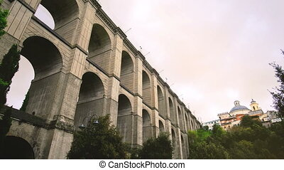 monumental bridge of Ariccia - Rome province in Lazio -...
