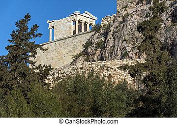 Monumental gateway Propylaea in the Acropolis of Athens,...