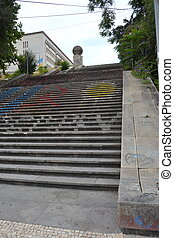 Monumental stairs of the University of Coimbra