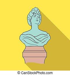 monumento, único, ícone, em, apartamento, style.monument, vetorial, símbolo, ilustração acionária, web.