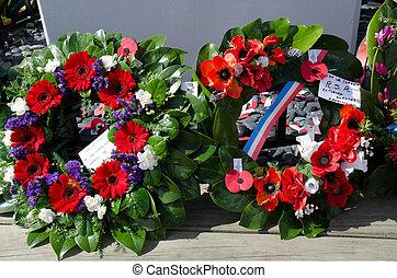 monumento conmemorativo, anzac, servicio, -, día, guerra
