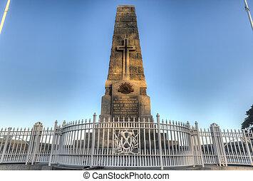 monumento conmemorativo, australia, cenotafio, parque, ...