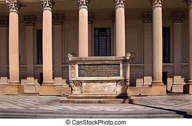 monumento conmemorativo, cenotafio, cuadrángulo, universidad, 1, yale, mundo, guerra, hewitt