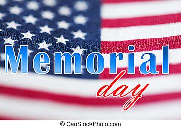 monumento conmemorativo, encima, bandera, norteamericano,...