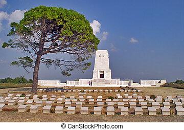 monumento conmemorativo, gallipoli