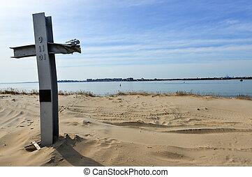 monumento conmemorativo, punto, 9/11, ventoso