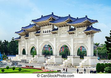 monumento conmemorativo, -, taiwán, taipei, kai-shek, chiang...