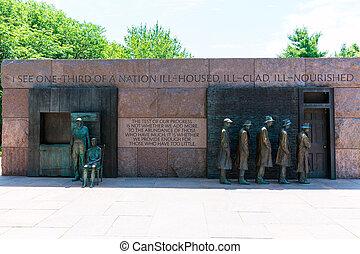 monumento conmemorativo, washington, roosevelt de franklin, ...