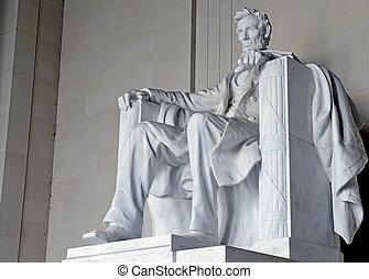 monumento de lincoln, washington dc, estados unidos de...