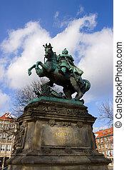 monumento, de, rei john, iii, sobieski