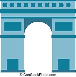 monumento, francia, parís, triomphe, viaje, arco, europa, ...