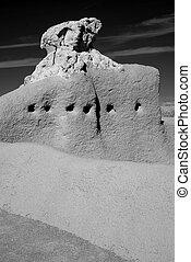 monumento, ruinas, casa, nacional, grande
