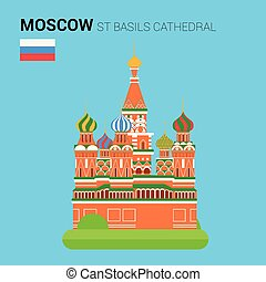 Monuments and landmarks Vector Collection: St Basils...