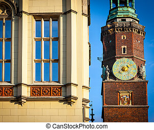 Monuments in the city of Wroclaw - Rynek, Poland