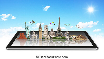 Monuments of the world on a tactile tablet - Famous ...