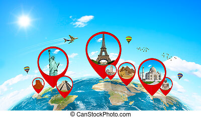 Monuments of the world on planet Earth - Famous monuments of...