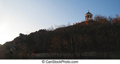 monuments, pyatigorsk, repères, mashuk, aeolus, mountain., harpe