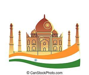 monuments, temples, inde, célèbre
