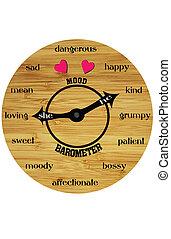 mood clock - a wooden clock for moods