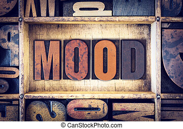 Mood Concept Letterpress Type