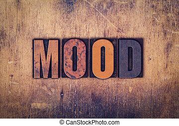Mood Concept Wooden Letterpress Type