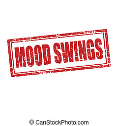 Mood Swings-stamp - Grunge rubber stamp with text Mood...