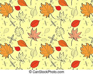 mood., zöld, sárga, ősz, fényes, állás, háttér, place., -e