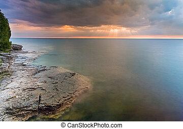 Moody Lake Michigan Dawn