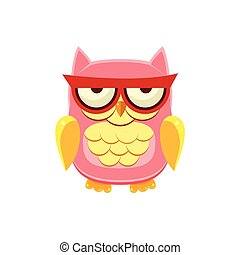 Moody Pink Owl